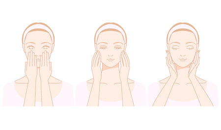 Frauen, die Gesichtsmassage