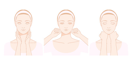 aging face: Women who massage the neck