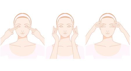 Face, eyes of self? Massage Illustration