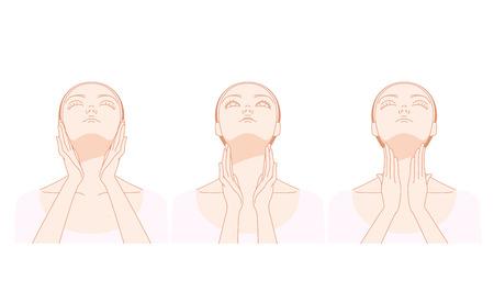 Vrouwen die de nek masseren