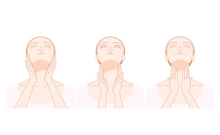 lymph: Women who massage the neck