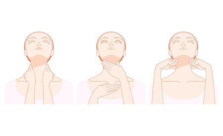 Women who massage the neck