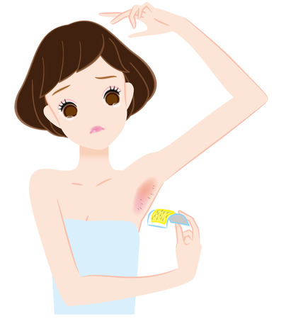 unwanted: Failure with wax. Treatment of underarm hair