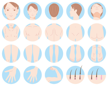 Male body removal of hair