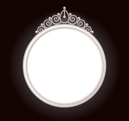 crown of light: Pearl frame Illustration