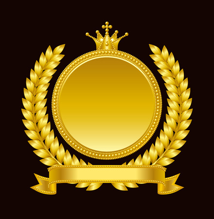 Gold medal emblem Illustration