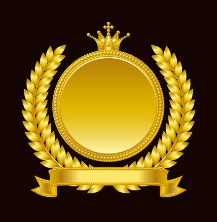 Gouden medaille embleem Stock Illustratie