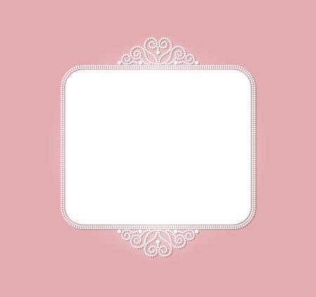 Pearl frame Illustration