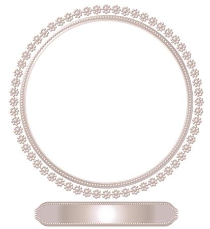Pearl frame Ilustração