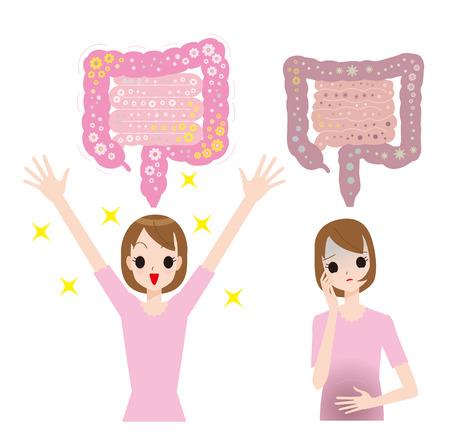 Intestinal bacteria  イラスト・ベクター素材