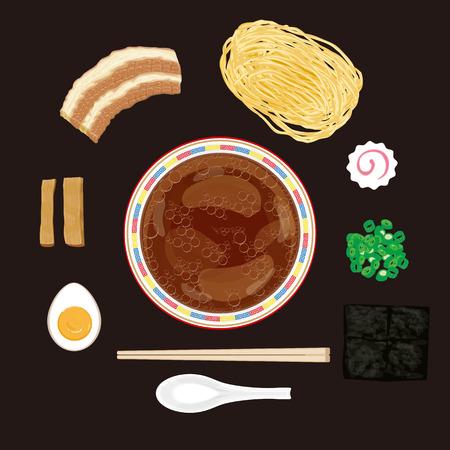 chinesisch essen: Sojasauce ramen Material