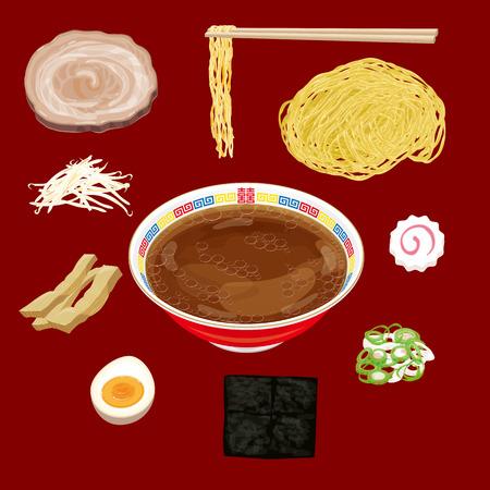 soy sauce: soy sauce ramen material