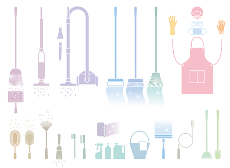 housecleaning: Cleaning tool Illustration