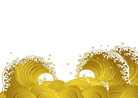 Golden wave, Japanese style