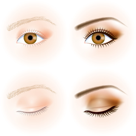 oog, make-up Stock Illustratie