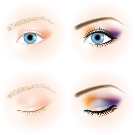 yeux maquill�: oeil bleu, maquillage