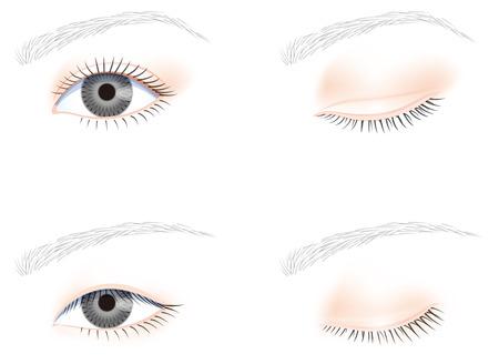 eye hole: eye, no makeup