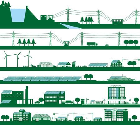 Energy. Power grid