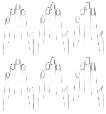 dedo: A forma das m Ilustração