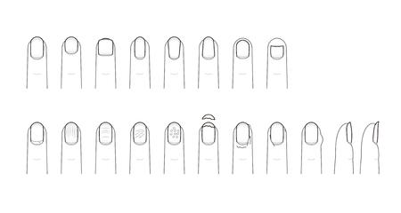 forme: Forme et la peine de l'ongle