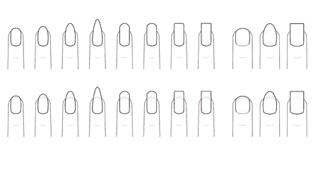손톱의 네일 모양