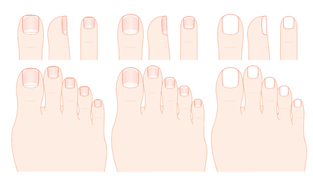 ring finger: Toes and nails