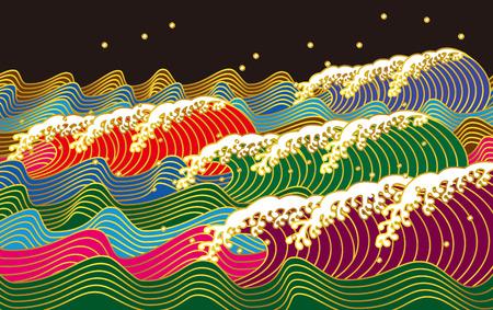 coast: wave. Japanese style