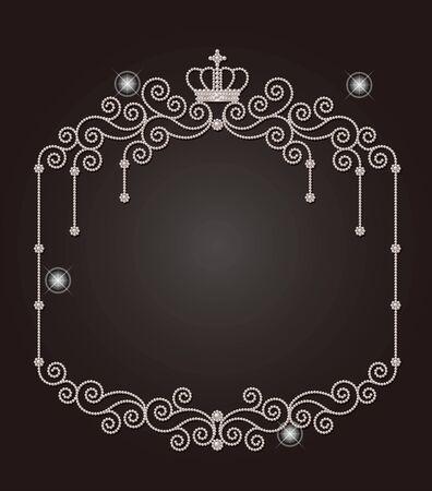 decorative frames: Pearl of the frame Illustration