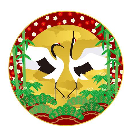 auspicious occasions: crane Illustration