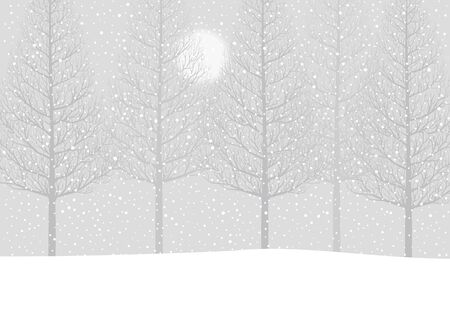 midwinter: Trees in snow Illustration