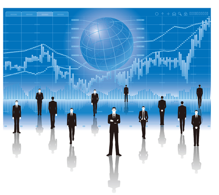 Businessman and graph.economy image