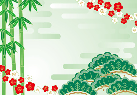 joyous: Pine bamboo plum Illustration