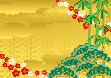 and auspicious: Pine bamboo plum Illustration