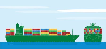import trade: Container ship Illustration
