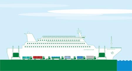 wharf: Carferry track