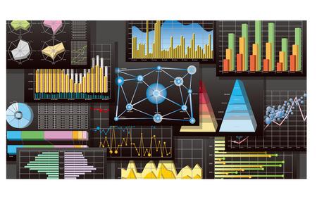 グラフの図  イラスト・ベクター素材