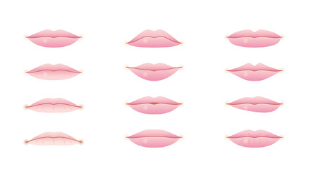 skin color: lips Illustration