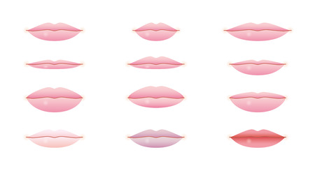 plump lips: lips Illustration
