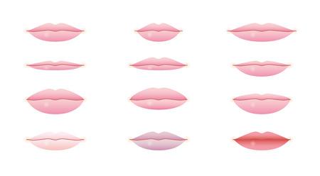 plump lips: lips Illustration