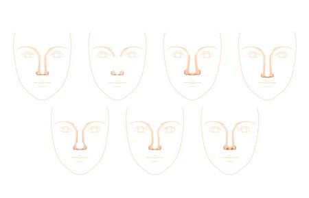 cosmetic surgery: nose shape Illustration