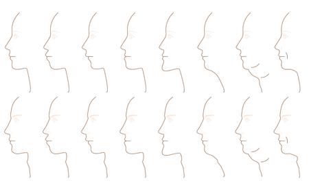 profil mâchoire Vecteurs