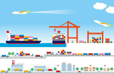port: Logistics Illustration
