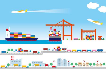wharf: Logistics Illustration