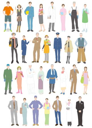 Profession Workers Illustration