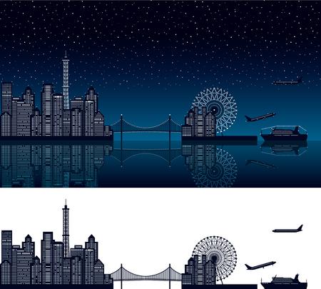 night view: Gulf city. Night view.
