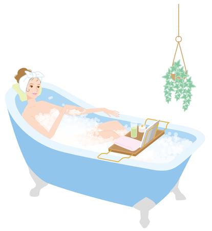 bath time: Bath time bathing Illustration
