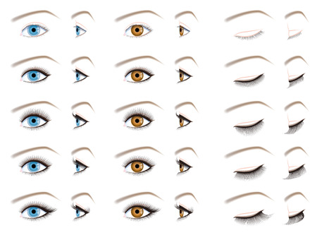 eyelash: Eyelash extensions, false eyelashes type