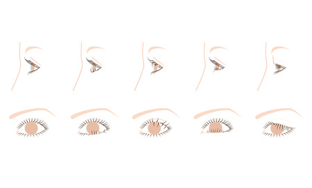drooping: Upside down eyelash