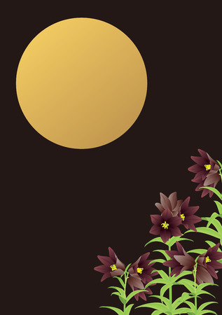 moonlit: Chocolate lily and moonlit night