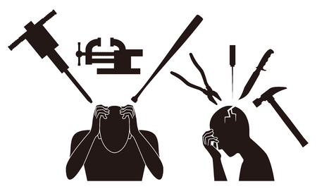 beaten: Headache. pain.